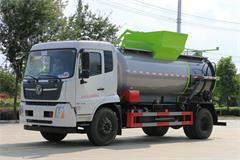 东风天锦12方餐厨垃圾车多少钱,天锦餐厨垃圾车