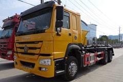 重汽25吨勾臂垃圾车价格_视频_图片_配置_厂家