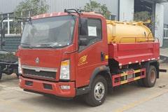 重汽5吨清洗吸污车价格_图片_配置_厂家