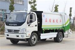 福田3吨垃圾压缩车价格_视频_图片