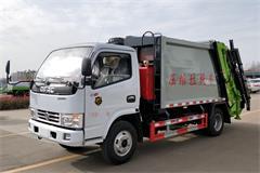 东风3吨压缩带摆臂式垃圾车价格_图片_配置_厂家