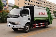 东风3吨垃圾压缩车价格_图片_视频_配置