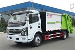 国六东风5吨压缩垃圾车价格_视频_图片_厂家