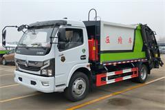 国六东风5吨垃圾压缩车价格_图片_配置_生产厂家
