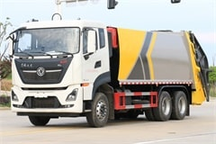 国六东风天龙25吨压缩式垃圾车厂家报价_配置_图