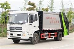天锦8吨垃圾压缩车价格_图片_配置_生产厂家