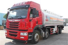 解放24吨铝合金油罐车价格_图片_配置_生产厂家